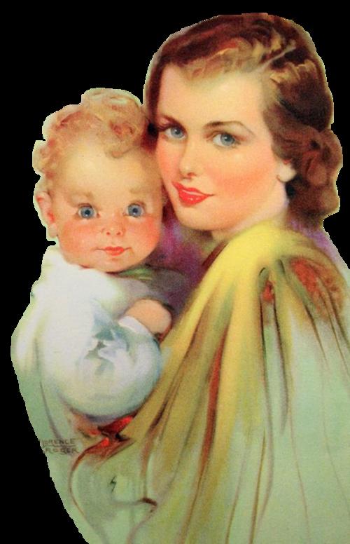 Mom clipart vintage. Femme maman chantalou florencemom
