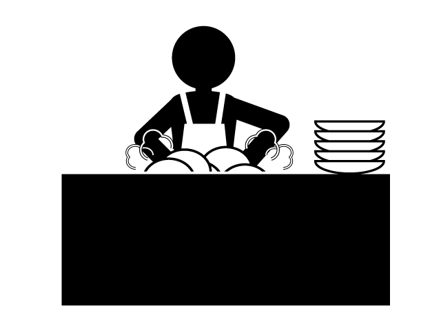 Mother a lot of. Clipart mom washing dish