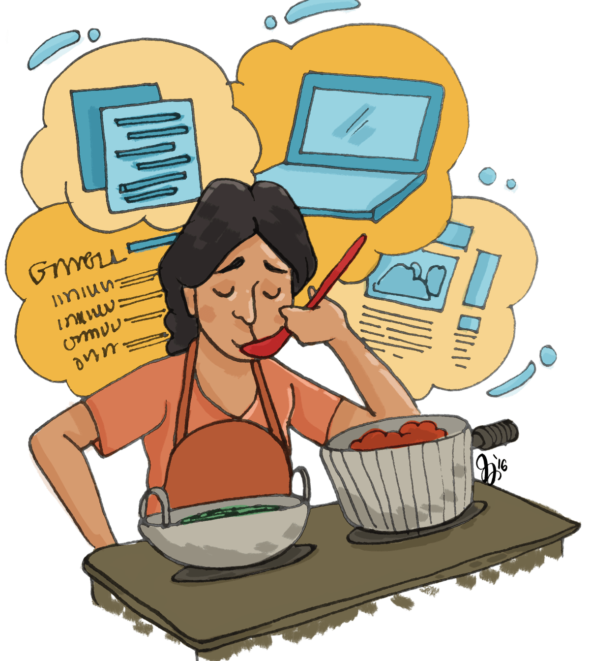 Cooking clipart kitchen team. Like a lady clay