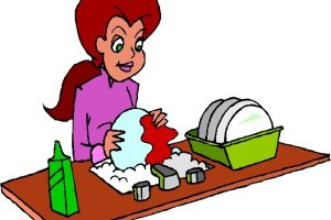 Mother dishes portal . Clipart mom washing dish