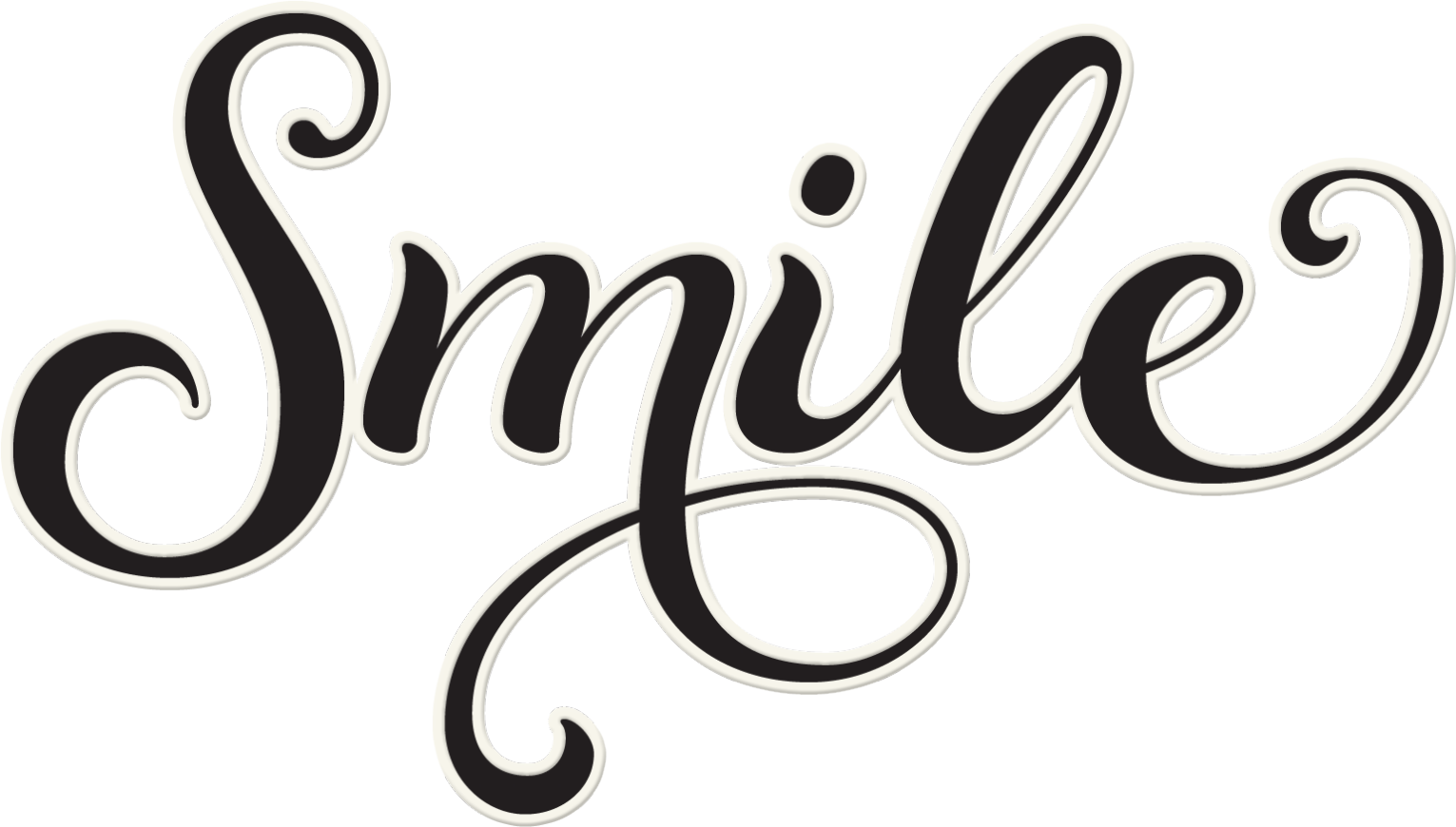 Smile word . Clipart writing handwriting