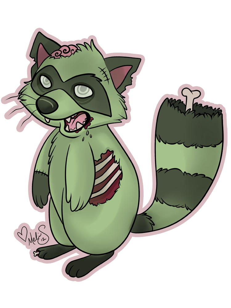 Gallery for zombie animal. Racoon clipart skunk