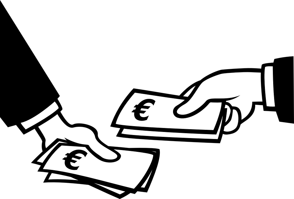 Pay group euro hands. Clipart money black and white