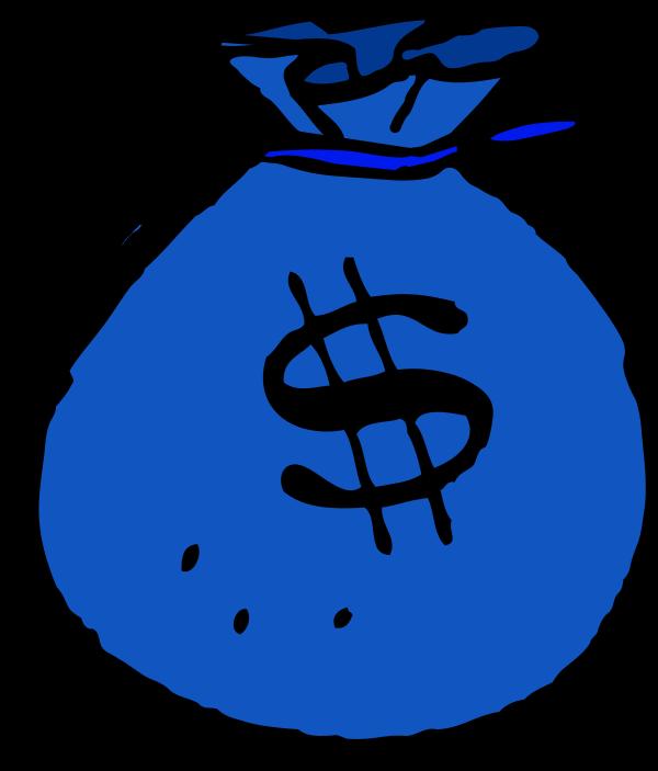 Blue clipart money