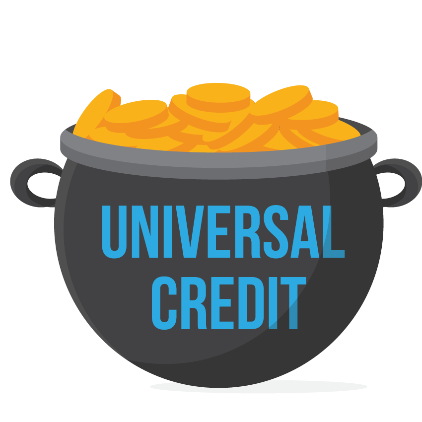 Intro universal credit png. Focus clipart benefit
