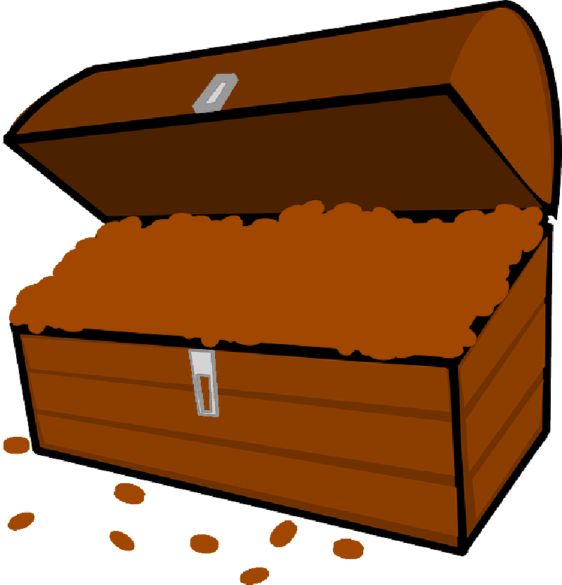 Pirate chest at getdrawings. Treasure clipart animated