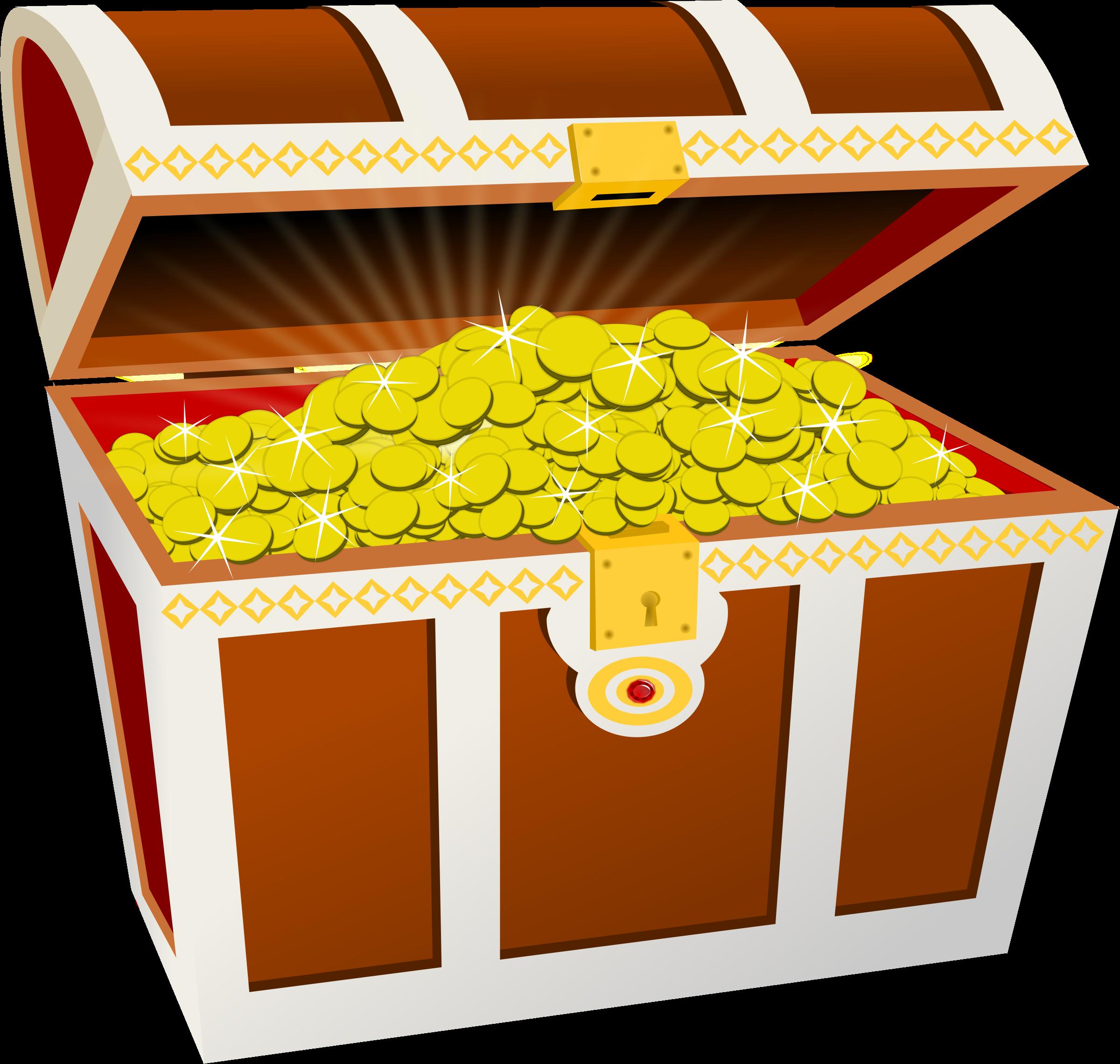 Chest big image png. Treasure clipart treasure coin