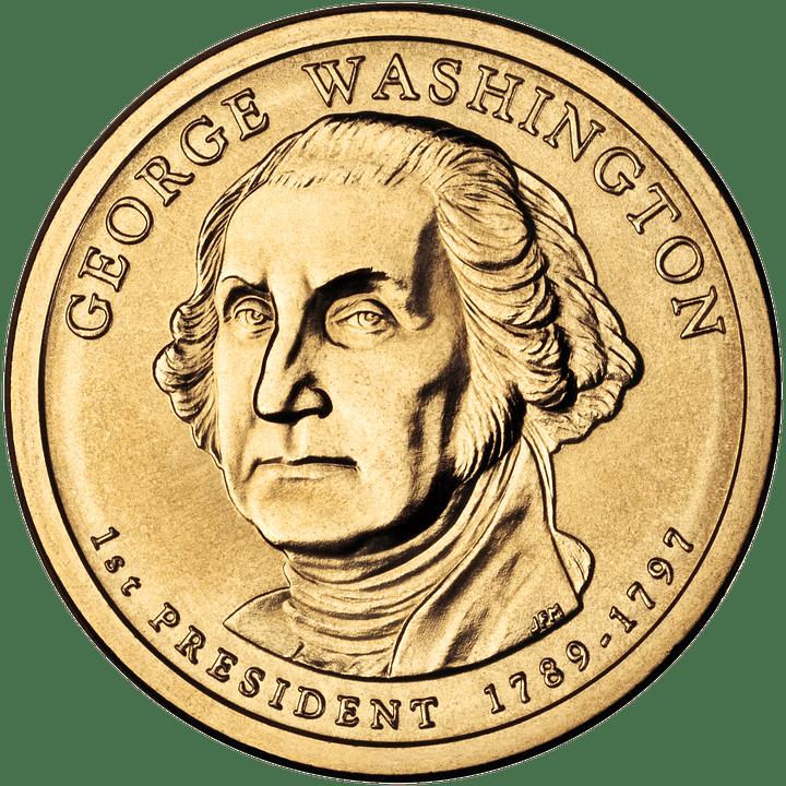 Coin clipart bill coin. George washington dollar transparent