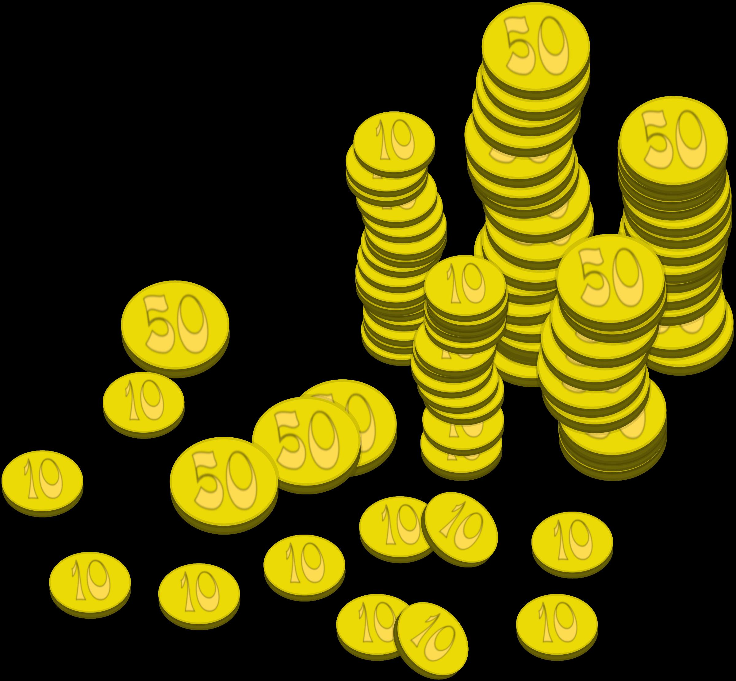 Coins money big image. Treasure clipart word
