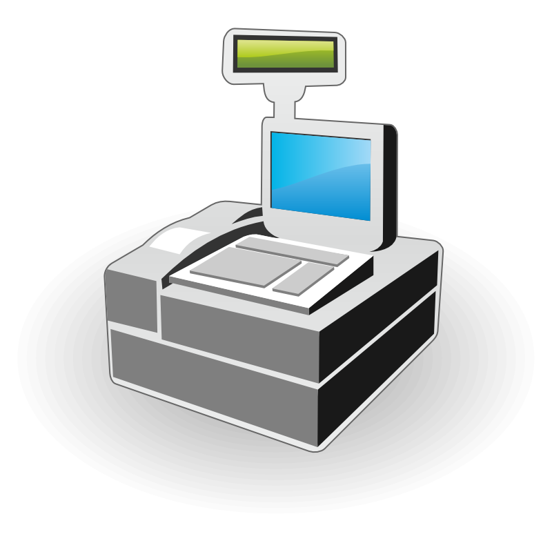 collection of modern. Grocery clipart cash register