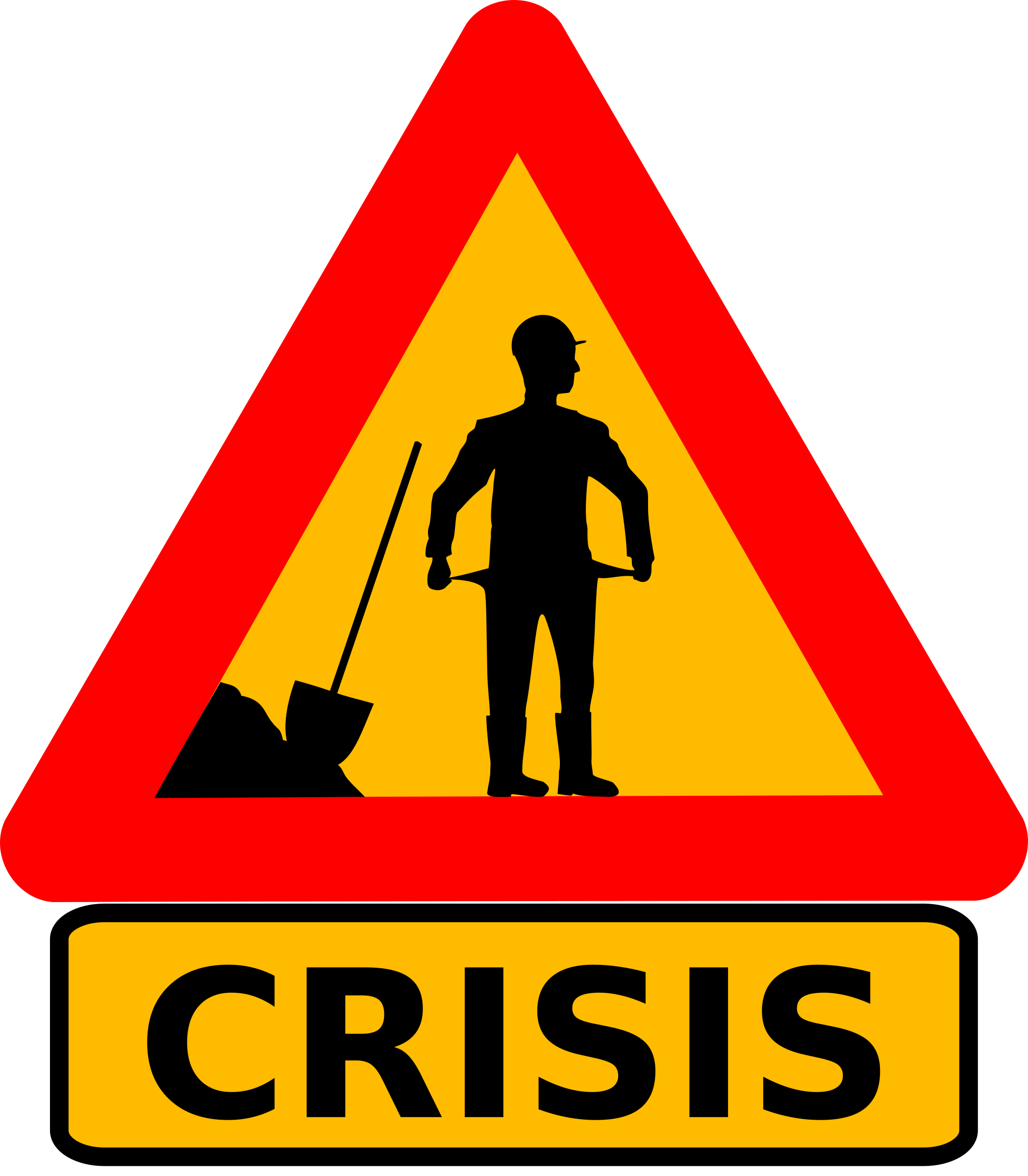 Poverty clipart financial issue. Warning crisis big image