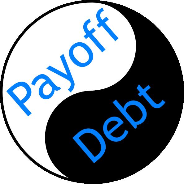 Payoff ying yang clip. Clipart money debt
