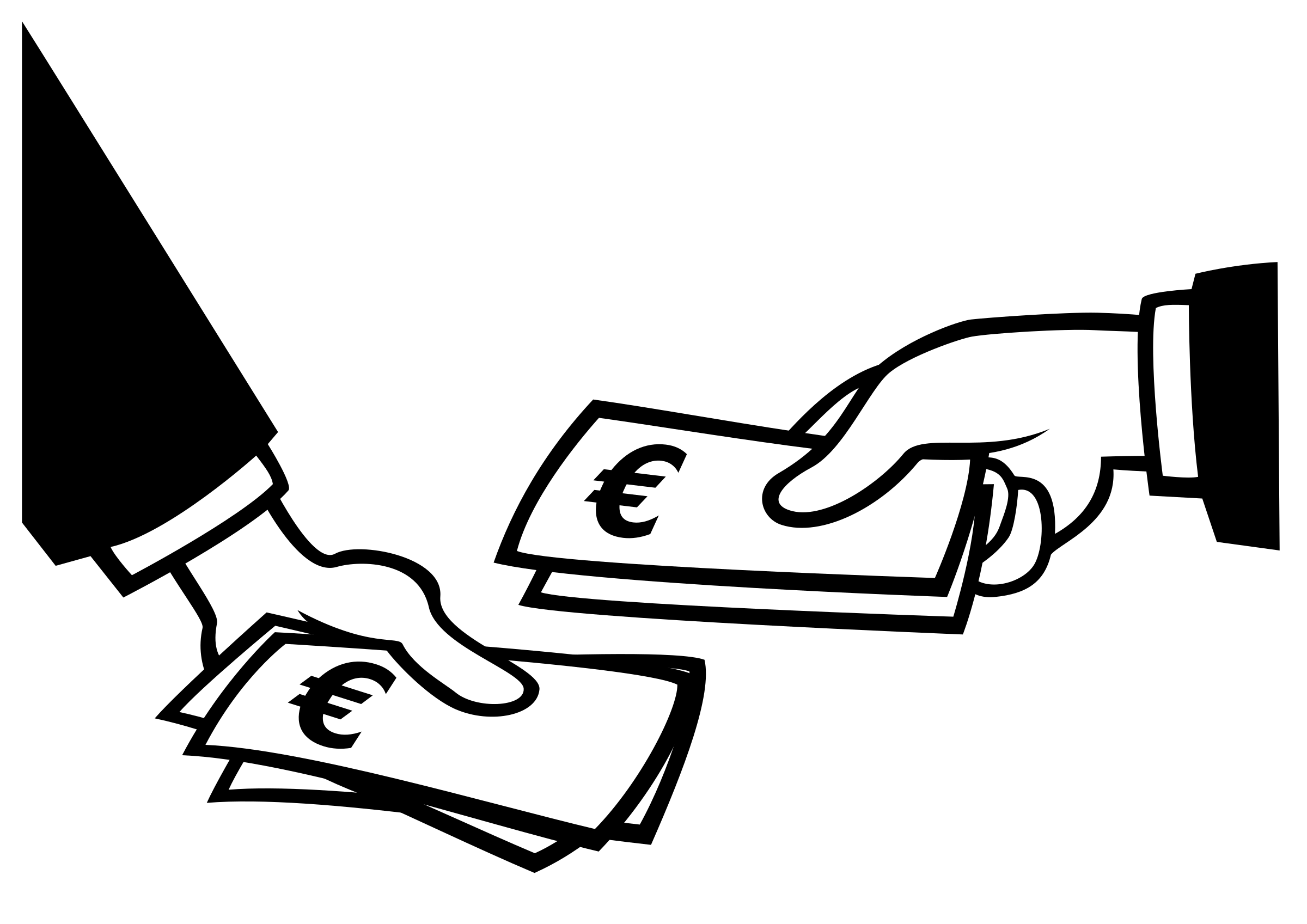collection of exchange. Wallet clipart money drawing