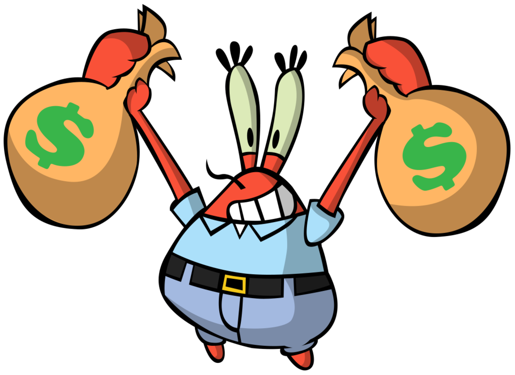 What spongebob and the. Clipart money expense