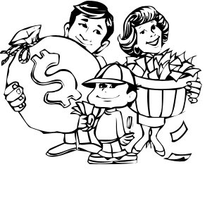 Free wealthy graphics images. Clipart money family