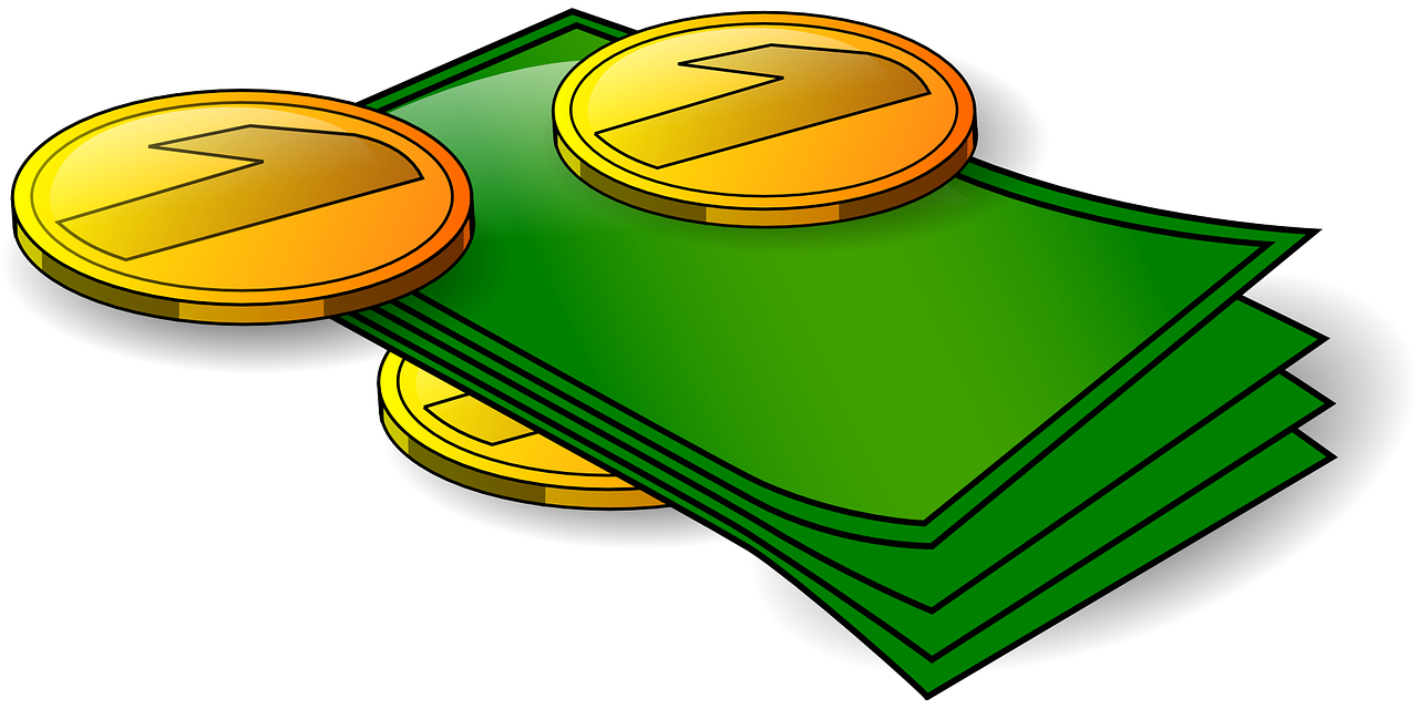 Cheque cashing for free. Money clipart banking