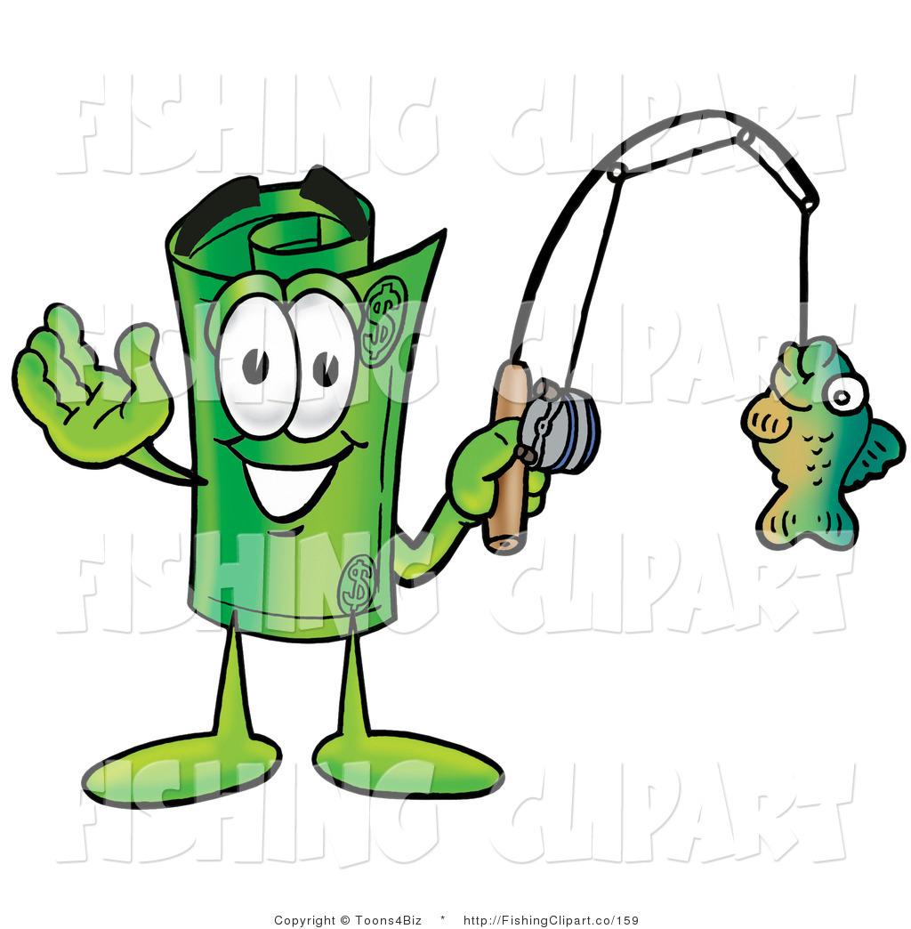 Fishing clipart money. Clip art of a