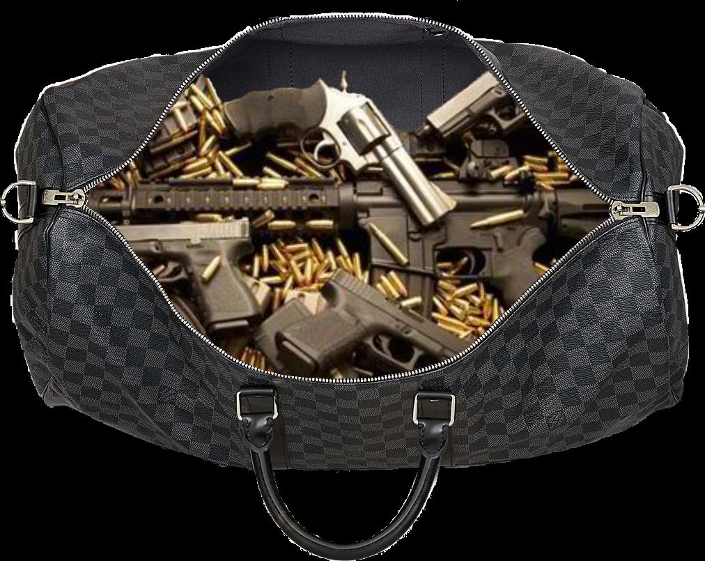 Bag of money png. Guns gucci guccibag trap