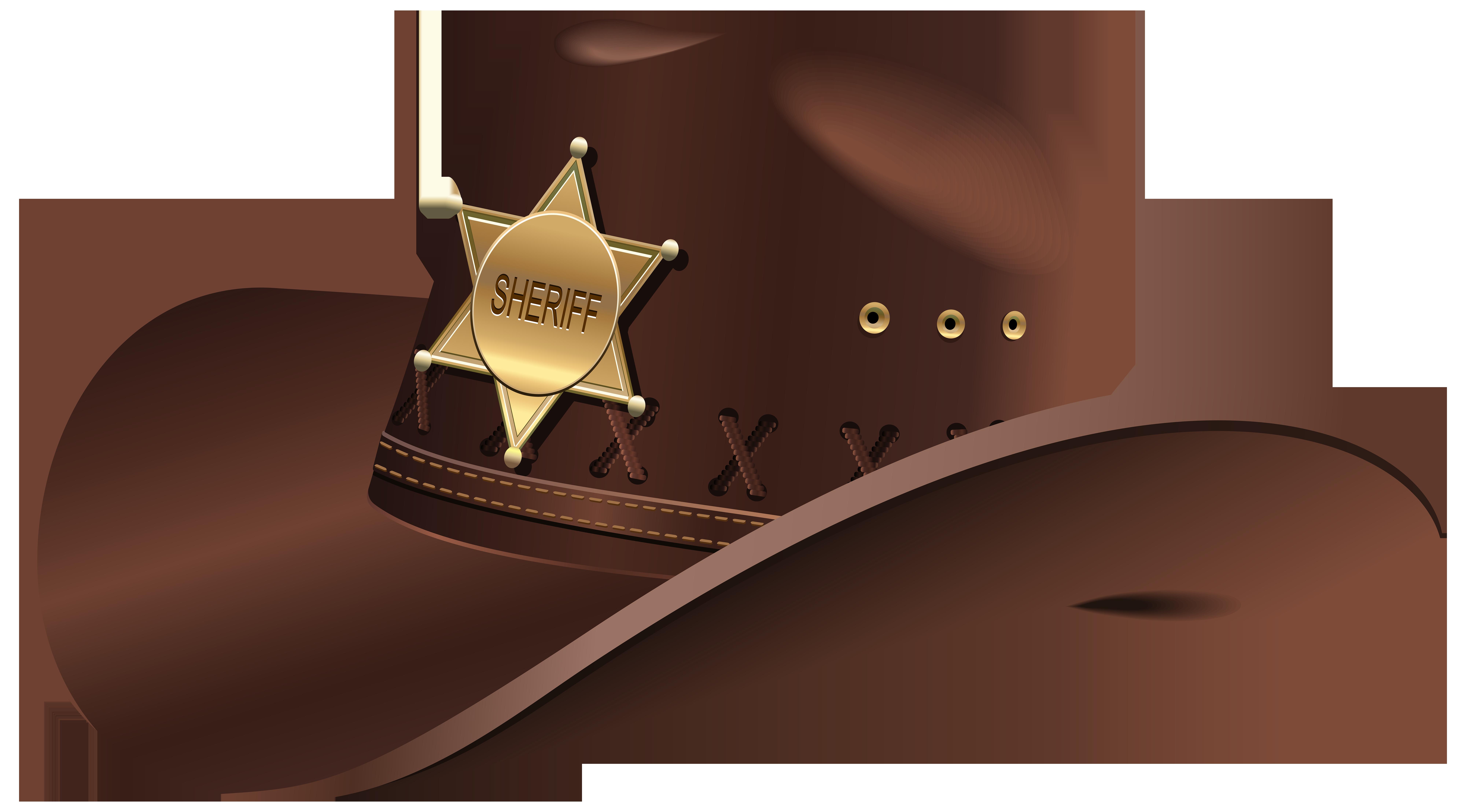Cowboy clipart sheriff hat. Sheriffs png clip art