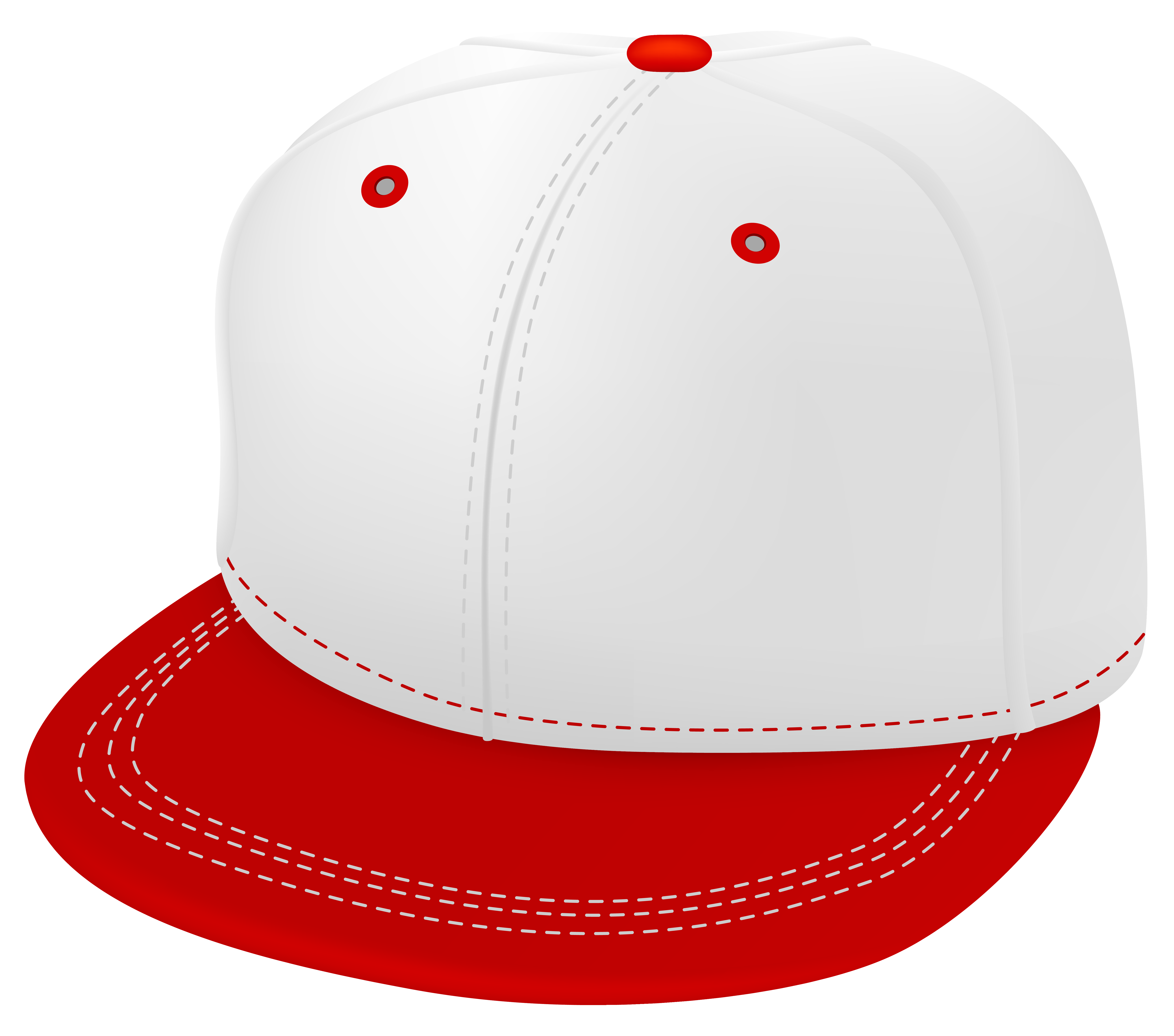 Red and white cap. Fashion clipart church hat