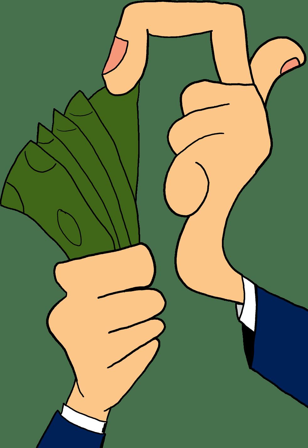 Money clipart offer. Show me the bladenomics