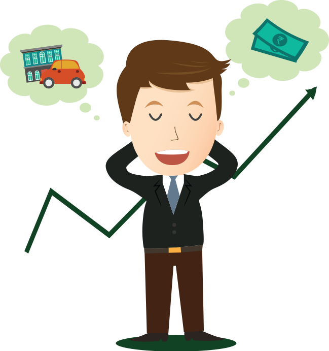 Invest in direct plans. Clipart money investment