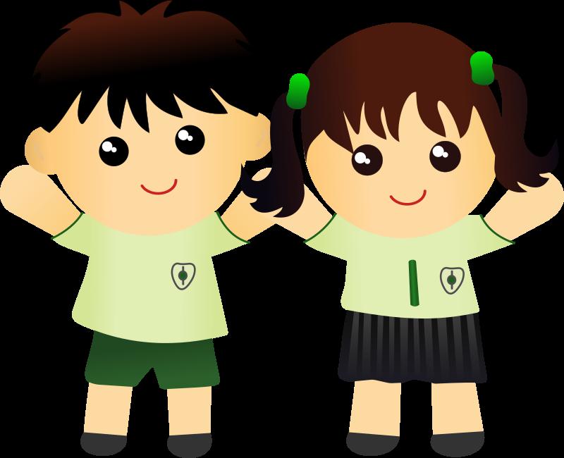 Clipart money kid. Child school uniform free