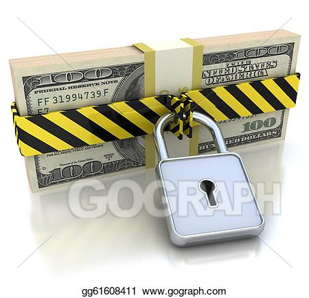 Stock illustration d and. Lock clipart money