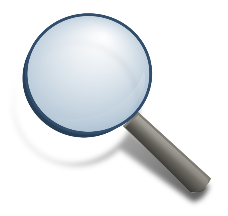 Clipart money magnifying glass. Free black and white