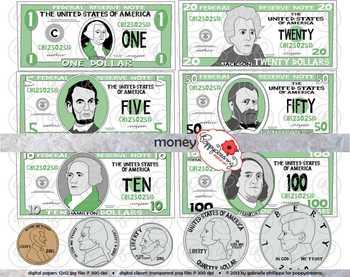 Clipart money math. Manipulatives set by poppydreamz