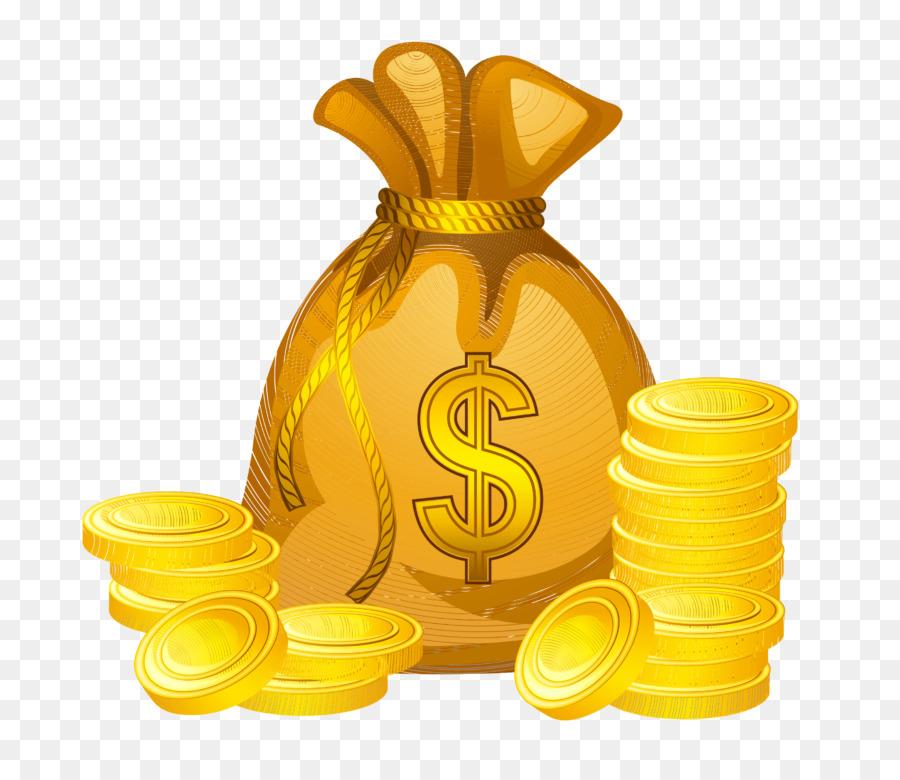 Clipart money money bag. Yellow transparent clip art