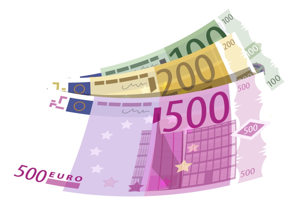 Banknotes euro png . Money clipart currency