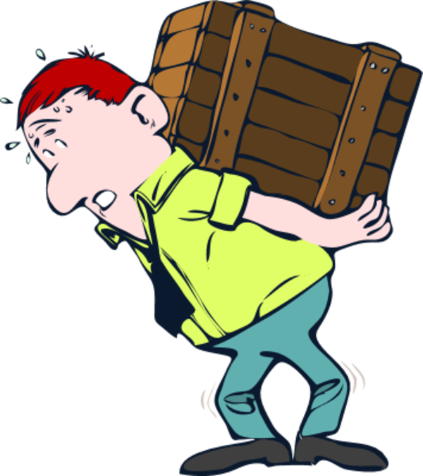 Maid clipart kid. Man carrying