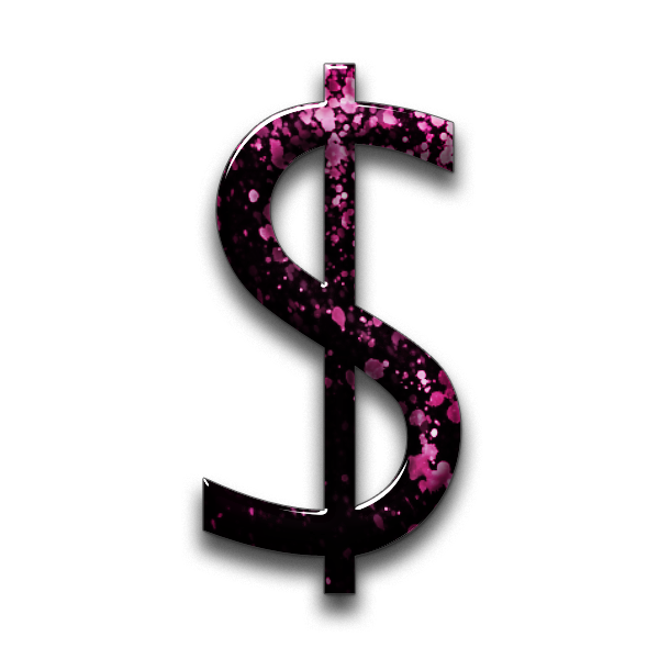 Dollar sign stylized. Clipart transparent free for