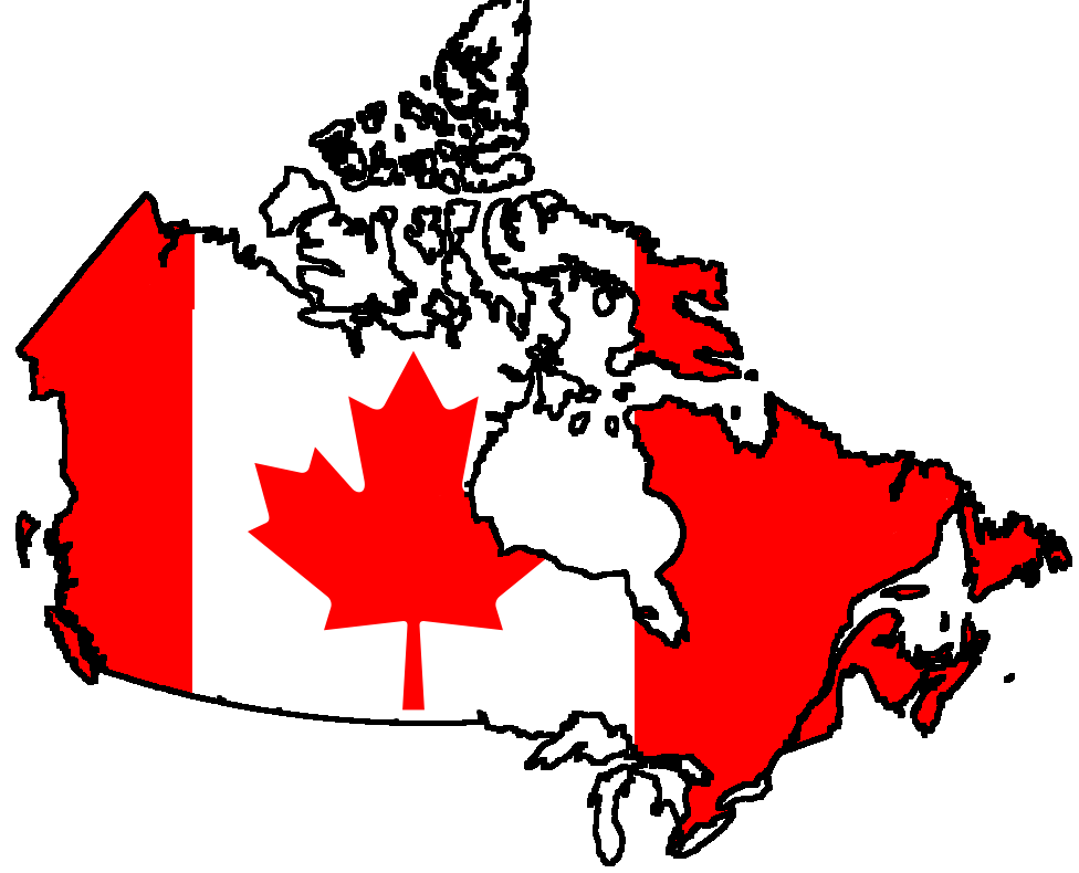 Country clipart country flag. Canada contour