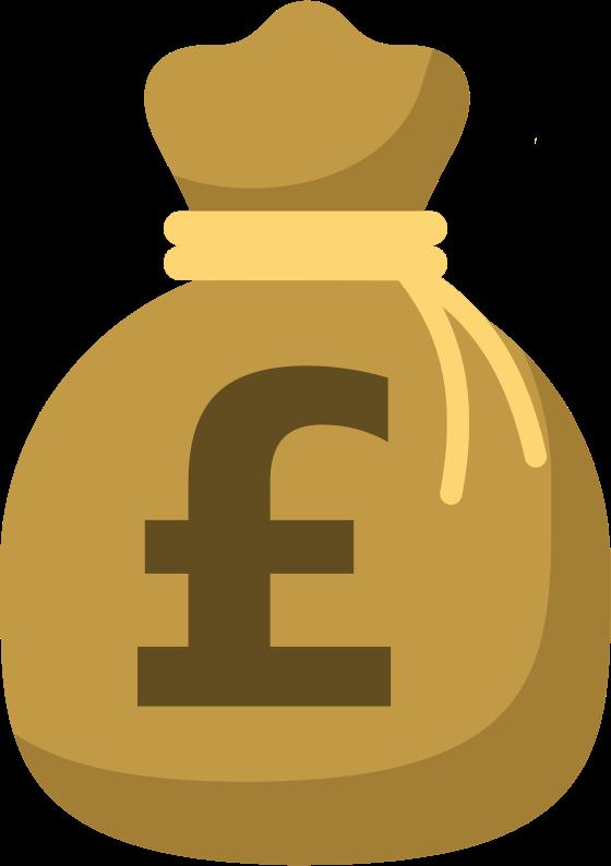 Moneybag version medium image. Clipart money pound