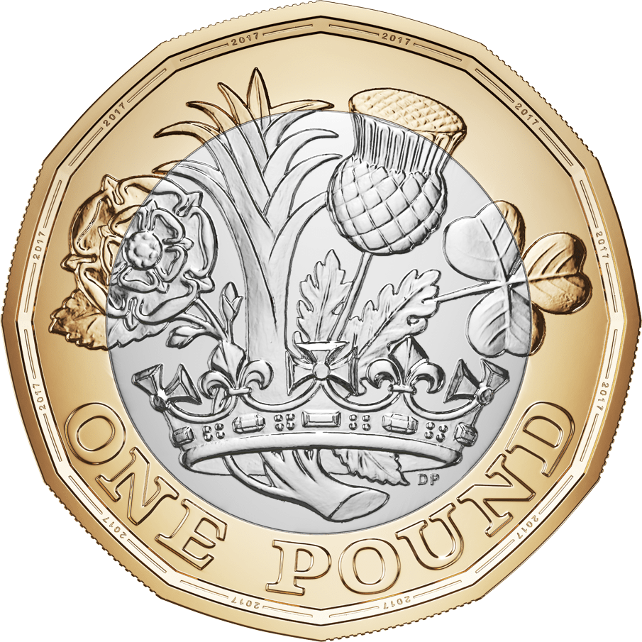 Brand new sided transparent. Coin clipart pound coin