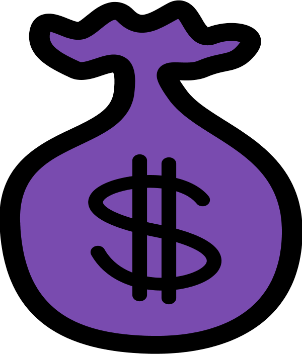 Clipart money purple. The man and his