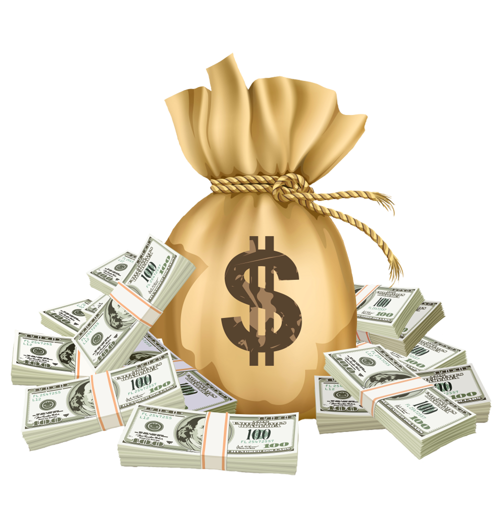 Collective earning money strategy. Dollar clipart earnings