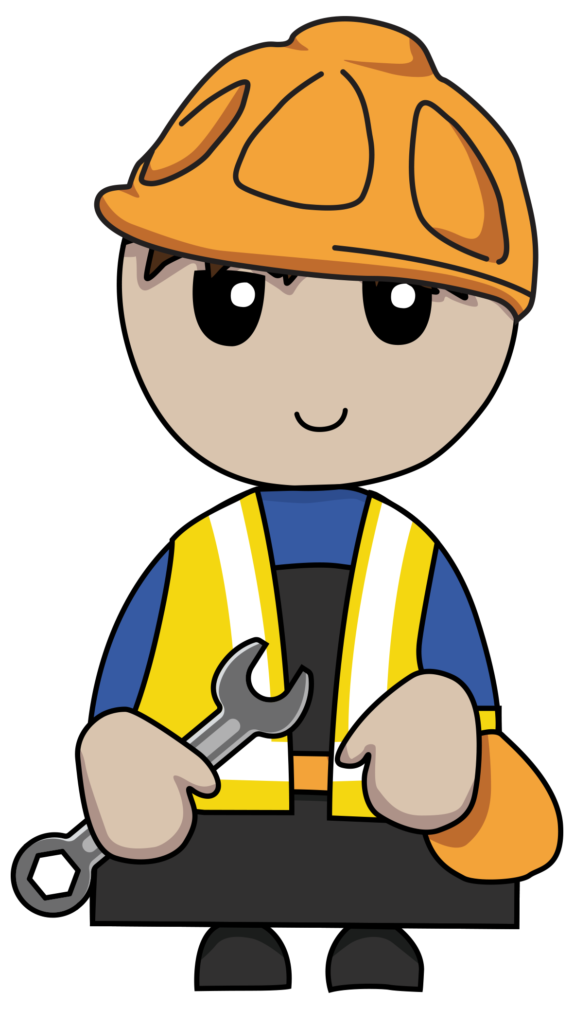 Are you due a. Contractor clipart boy
