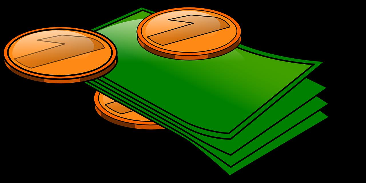 Money cash is king. Finance clipart savings