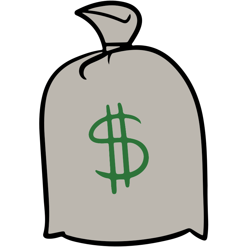 Money clipart simple. Bag of free download