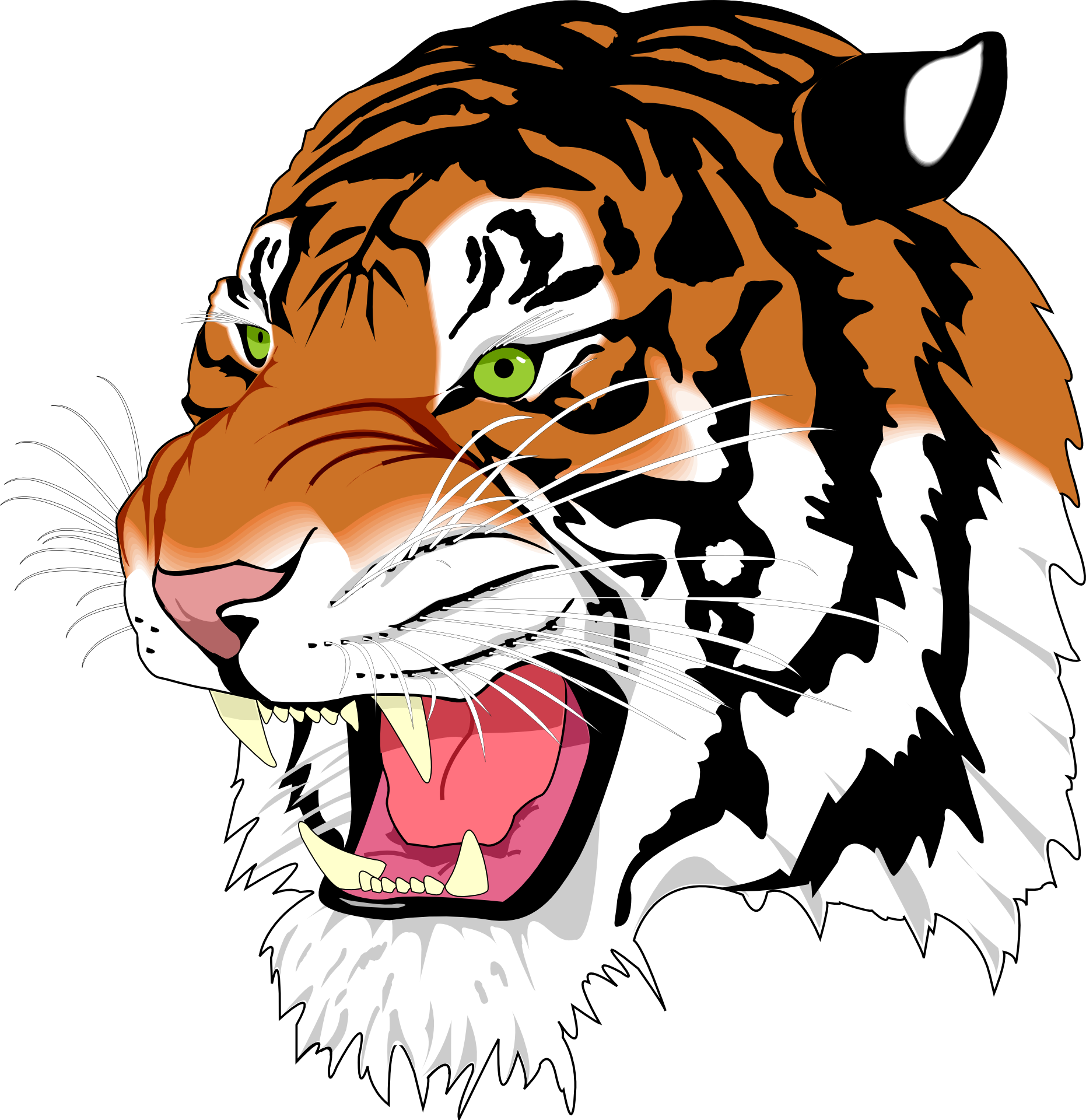 Clipart tiger abstract. Head t shirt cool