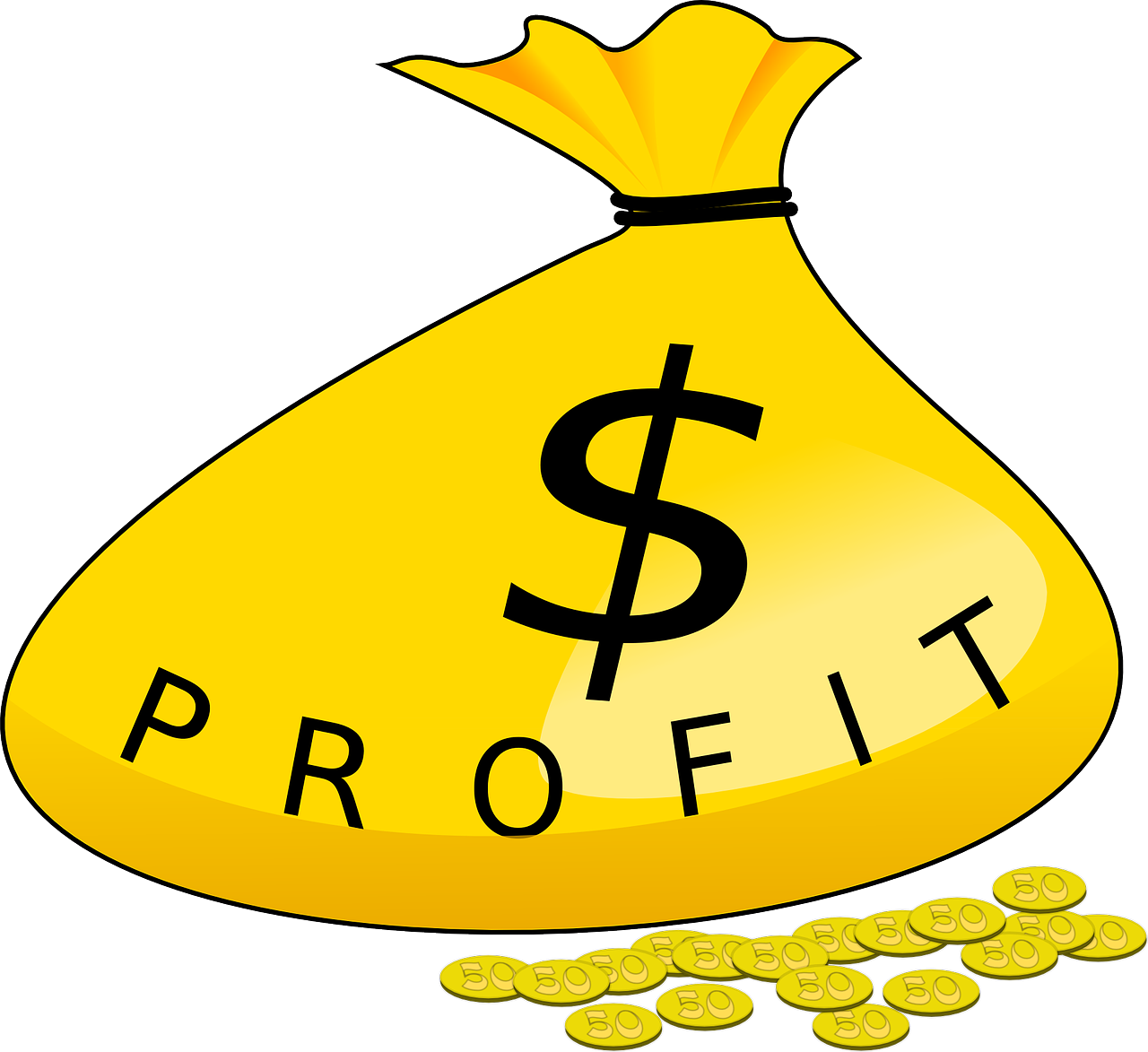 Financial clipart dividend. Taking profits while increasing