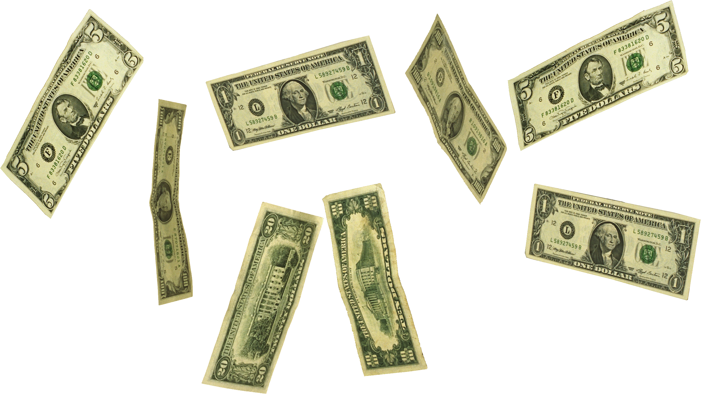 Falling money png. Images free download