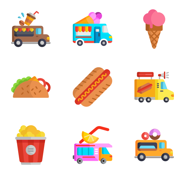 Icons free vector food. Clipart money truck