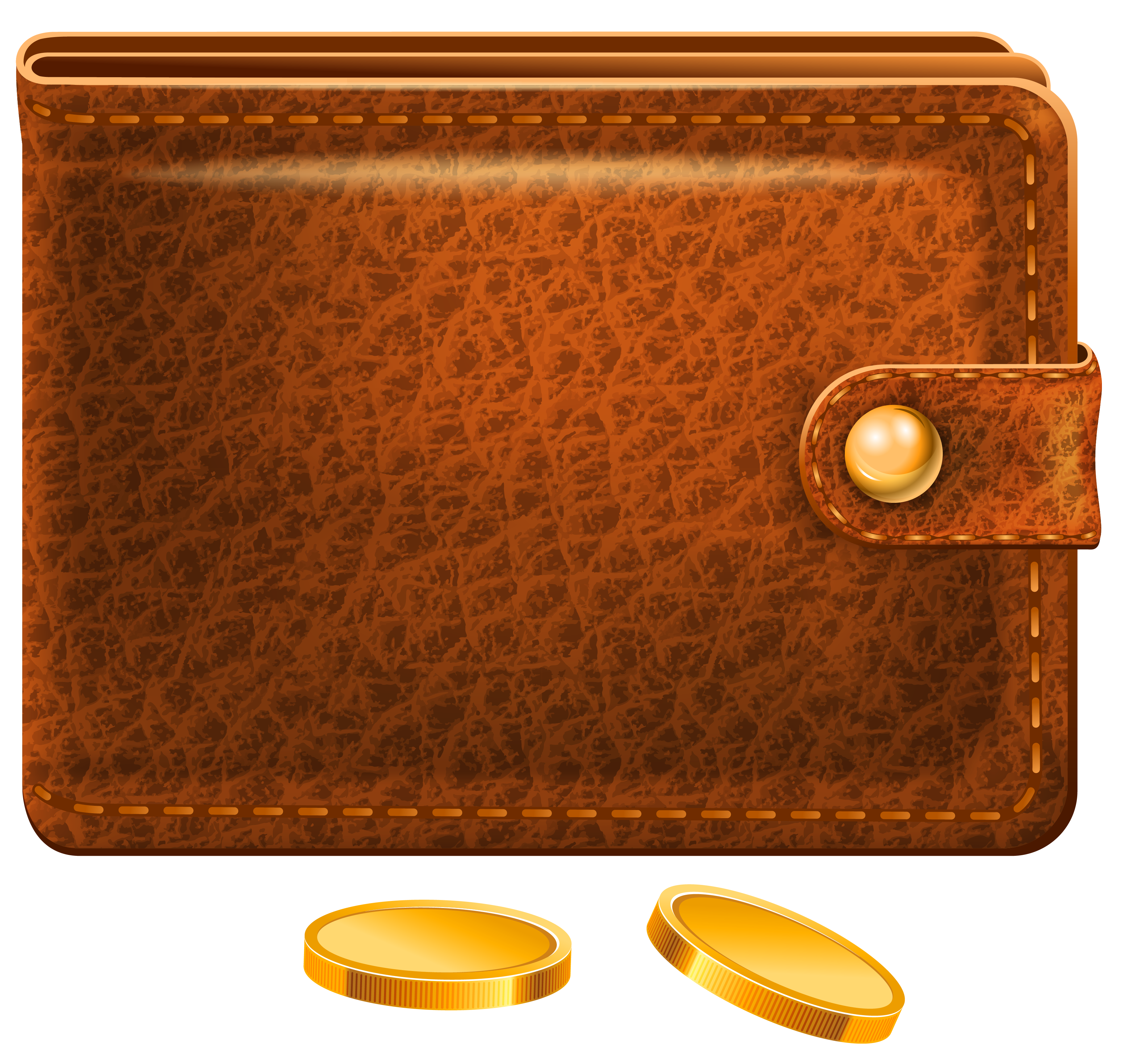 Coin clipart color. Wallet with coins png