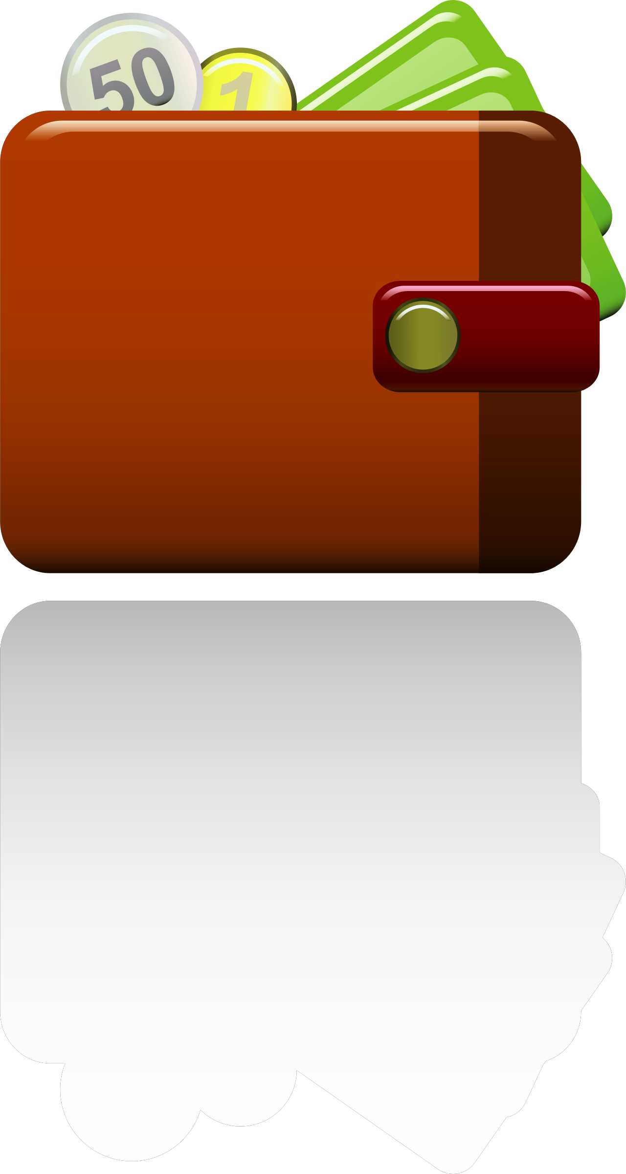 Icons big image png. Wallet clipart outline