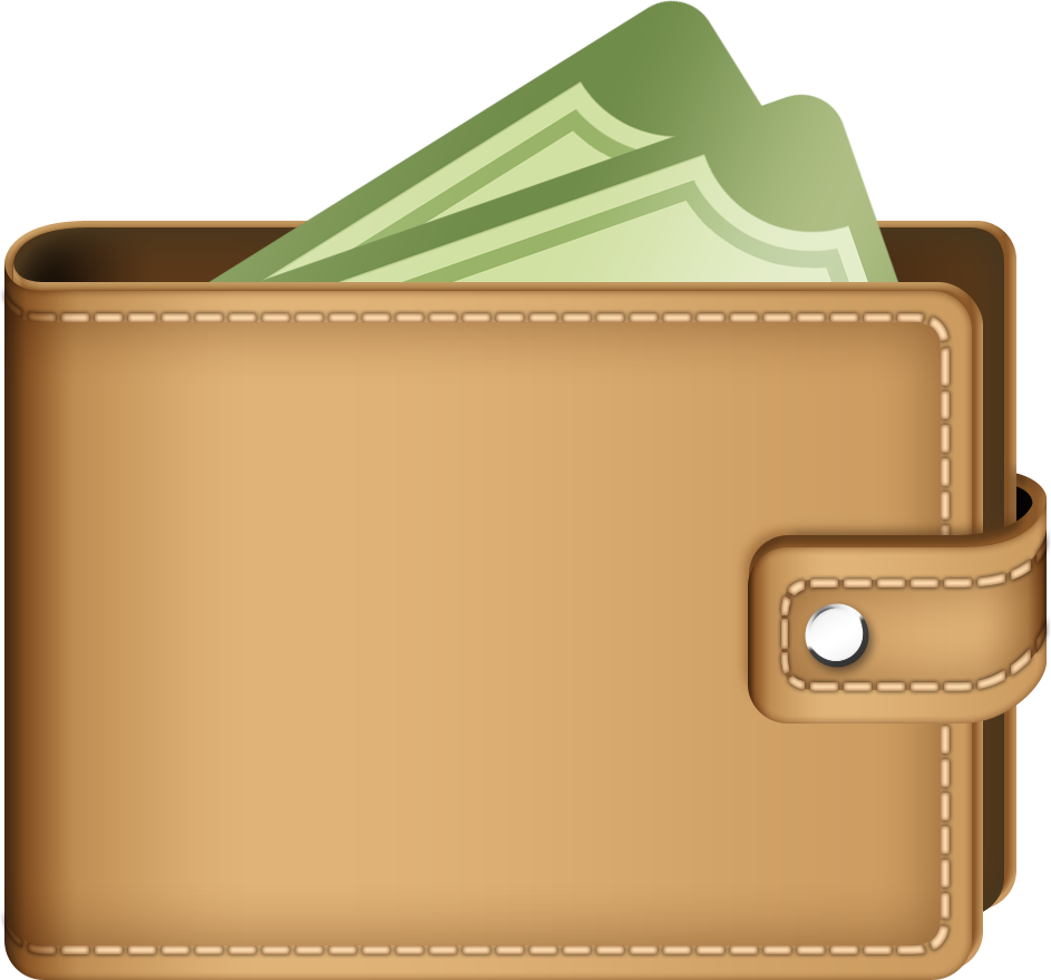 E clipart wallet. Purse icon in png
