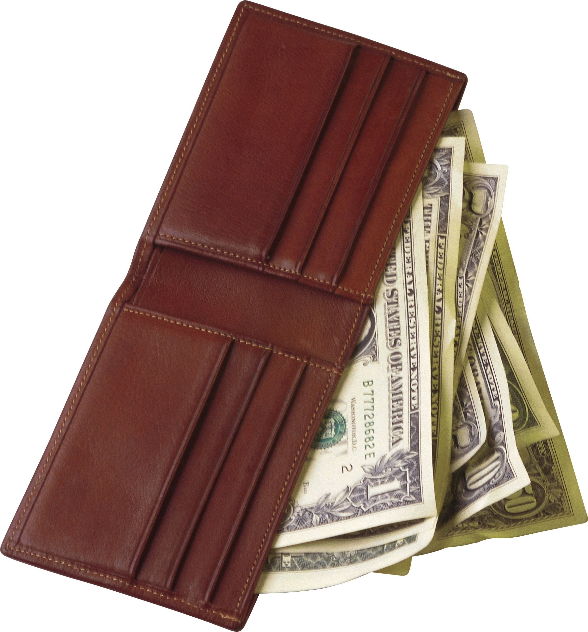 Money clipart purse. Wallet with one isolated